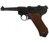 Pistolet  LUGER  P08 Parabellum  cross  Bois  de 23 cm