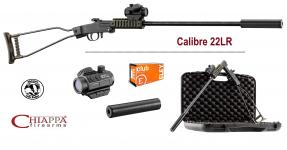 Pack Carabine Chiappa Little Badger  pliante Verte Cal  22 LR mono-coup