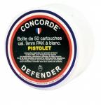 Cartouches de Défense x50  Cal. 9 mm PAK PISTOLET