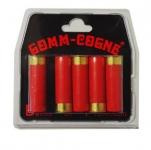 Balles  GOMME  COGNE x5    Cal. 16/67
