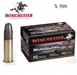 Cartouches 22LR SUBSONIC  Winchester  X500