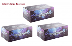 Pack de 3 Carton 6000 Billes Raimbow loisir