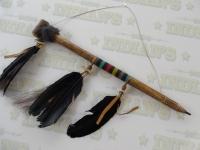 Calumet Amérindien recouvert de Rawhide