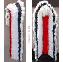 Coiffe indienne Navajo de 68 pouces  Made in USA ( Mod. BLACK CLOUD )