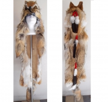 Coiffe indienne Medecine Man Shaman  Made in USA( Mod. Long Full COYOTE )