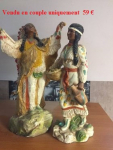 Statuez couple indien