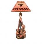 LAMPE INDIEN avec Enfant