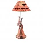 LAMPE Tipi avec Crane de Bison