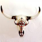 Crane de Vache résine Azteque