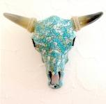 Crane de Vache résine Turquoise