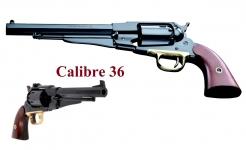 Revolver à poudre noire Remington 1858 Cal. 36
