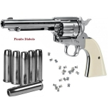 Revolver  COLT  S.A.A.45  Finition Nickelé