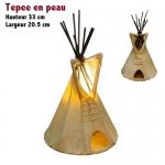 Lampe Tepee en peau de cerf  de 33 cm de haut