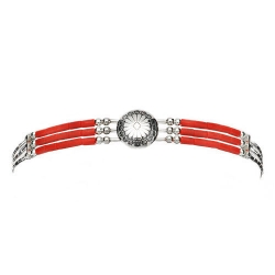 Bracelet 3 Fils Conchas Corail