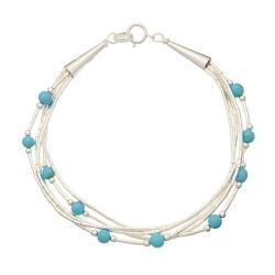 Bracelet 5 Fils Perles de Turquoise