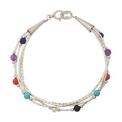 Bracelet 5 Fils Perles Multicouleur