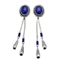 Boucle d'Oreilles Goute d'eau Lapis-Lazuli