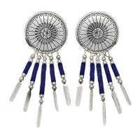 Boucle d'Oreilles 5 Fils Conchas Lapis Lazulis