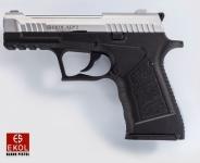 Pistolet de défense à blanc  Mod. ALP 2 bicolor argent