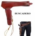 Ceinturon holster (BUSCADERO) Marron pour 1 revolver western