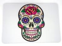 Tapis de souris  «Tête de mort mexicaine sur fond blanc »