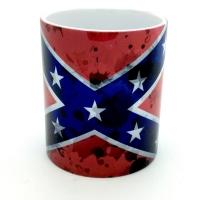 Mug « Drapeau confédéré taché »