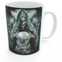 Mug squelette, tête de mort et serpent