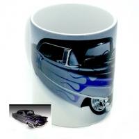 Mug voiture américaine Gris bleu violet