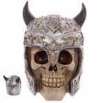 Crane tête de mort  Casque Viking