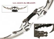 Dague fantaisie les ailes du dragon  Double Lames
