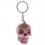 Porte clés crâne Rose bonbon  jour des morts mexicain