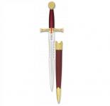 Dague Médiévale Templière Dorée  de 36 cm