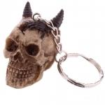 Porte clés crâne celtique diable