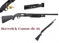 Fusil à pompe MAVERICK Mod.88  Cal 12/76  (canon de 61cm )