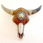 Crane de Vache résine western Texas