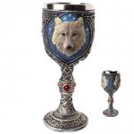 Calice ( ciboire, verre )  Loup gris de 19 cm
