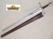 Epée médiévale Allemande forgée  avec fourreau cuir