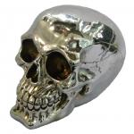 Crâne tête de mort argent MM