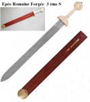 Epée romaine de Frappe forgée  avec fourreau bois et cuir