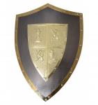 Bouclier  Médiéval templier argent   de  62 cm