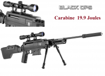 Carabine à plomb BLACK OPS  Type sniper 19.9 joules