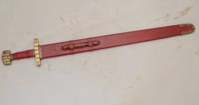 Epée de Frappe Viking forgée  avec fourreau cuir de 94 cm