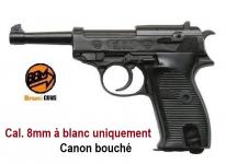 Pistolet  Mod P38  Cal. 8mm à blanc