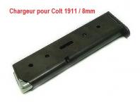 Chargeur seul pour Pistolet Colt 1911  Mod.96  en 8 mm
