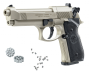 Beretta M92 FS  NICKELE   Cal. 4.5 mm Plombs diabolo