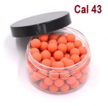 Pot de 100 Billes caoutchouc orange  Cal. 43