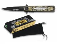 Couteau pliant de poche lame de 7.6 cm  «RainBlack » au Design tribal