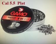 Plombs Gamo « Tête PLAT »  Cal 5.5 mm  Boite de 250