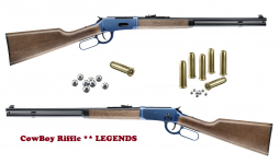 Carabine Winchester Bleutée  Légends cowboy  Cal. 4.5 Bille Acier