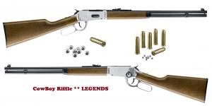 Carabine Winchester Nickelée  Légends cowboy  Cal. 4.5 Bille Acier